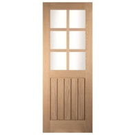 Cottage Door White Oak 6 Light Glzd