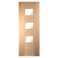 Cube Door White Oak Glazed