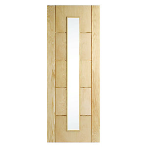 Internal Glazed Door Oak Veneer 5 Panel